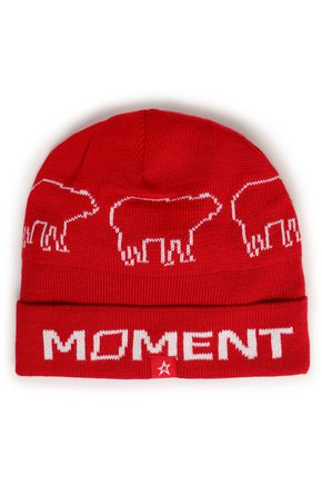 PERFECT MOMENT Intarsia merino wool-blend beanie