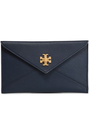TORY BURCH Textured-leather clutch