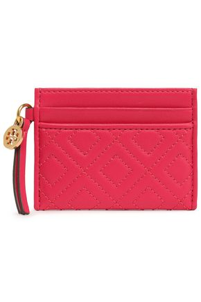 TORY BURCH Quilted leather cardholder