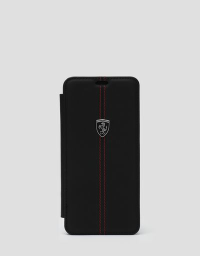 Funda de piel tipo cartera de color negro para Samsung Galaxy S9 Plus