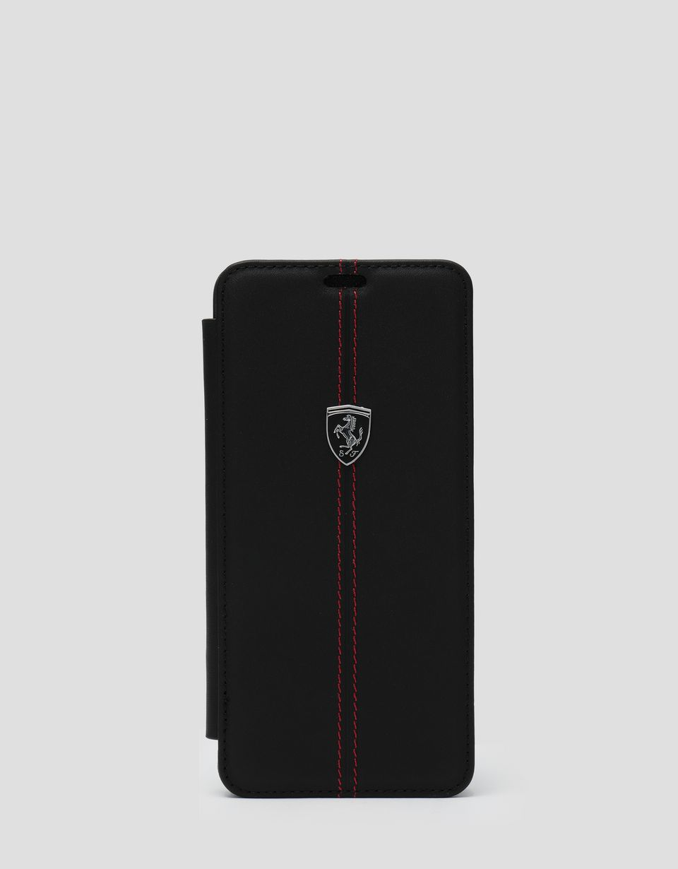 Scuderia Ferrari Online Store - Black leather wallet case for the Samsung Galaxy S9 Plus - Smartphone Accessories