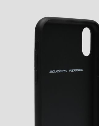 Scuderia Ferrari Online Store - Rigid case in black soft-touch rubber for the iPhone XR - Smartphone Accessories