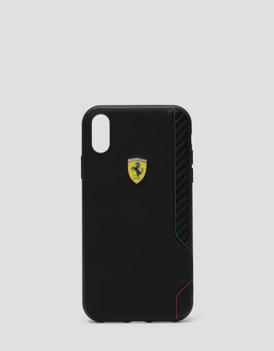Rigid case in black soft-touch rubber for the iPhone XR