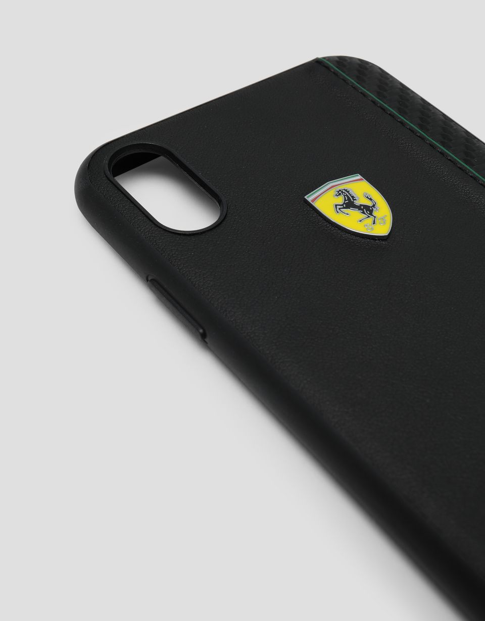 Scuderia Ferrari Online Store - Black soft touch rubber hard case for iPhone XR - Smartphone Accessories