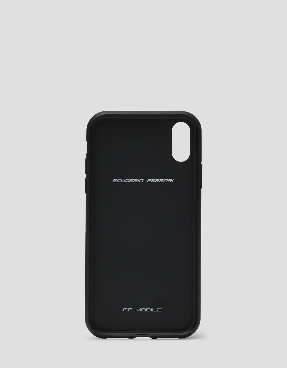 Scuderia Ferrari Online Store - Cover rigida in gomma nera soft touch per iPhone XR - Accessori Smartphone