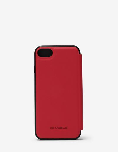 Red wallet case with contrasting insert for the iPhone 8