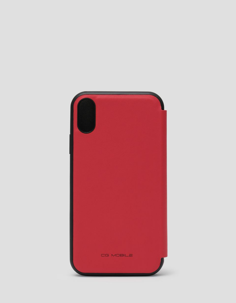 Scuderia Ferrari Online Store - Red wallet case with contrasting insert for the iPhone XR - Smartphone Accessories