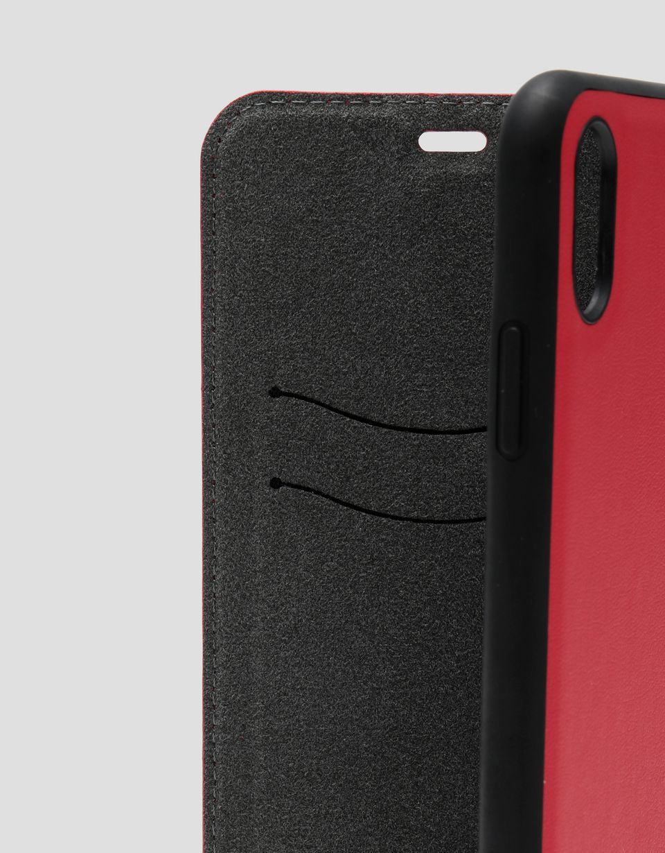 Scuderia Ferrari Online Store - Red wallet case with contrasting insert for the iPhone XS Max - Smartphone Accessories