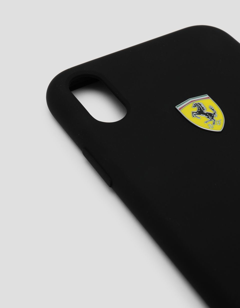 Scuderia Ferrari Online Store - Black rigid silicone case for the iPhone XR - Smartphone Accessories