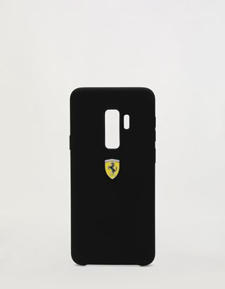Scuderia Ferrari Online Store - Black silicone hard case for Samsung Galaxy S9 Plus - Smartphone Accessories
