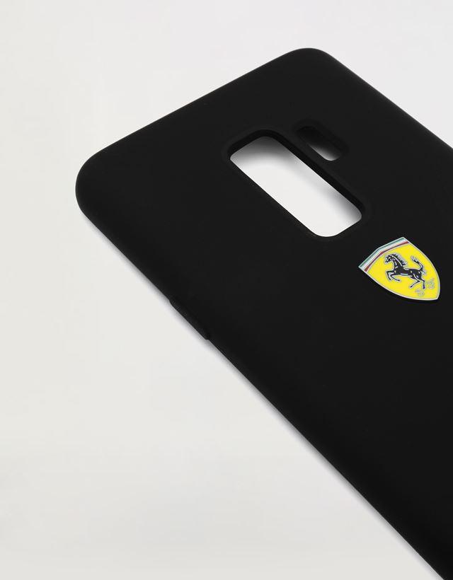 Scuderia Ferrari Online Store - Black rigid silicone case for the Samsung Galaxy S9 Plus - Smartphone Accessories