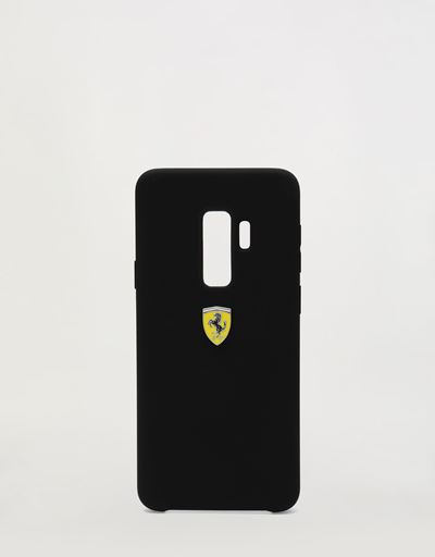 Black rigid silicone case for the Samsung Galaxy S9 Plus