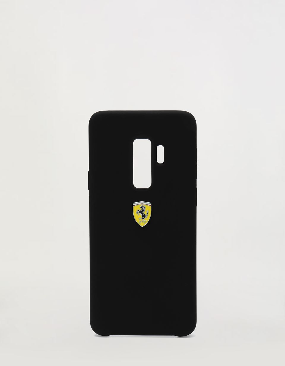 Scuderia Ferrari Online Store - Black rigid silicone case for the Samsung Galaxy S9 Plus - Smartphone Accessories