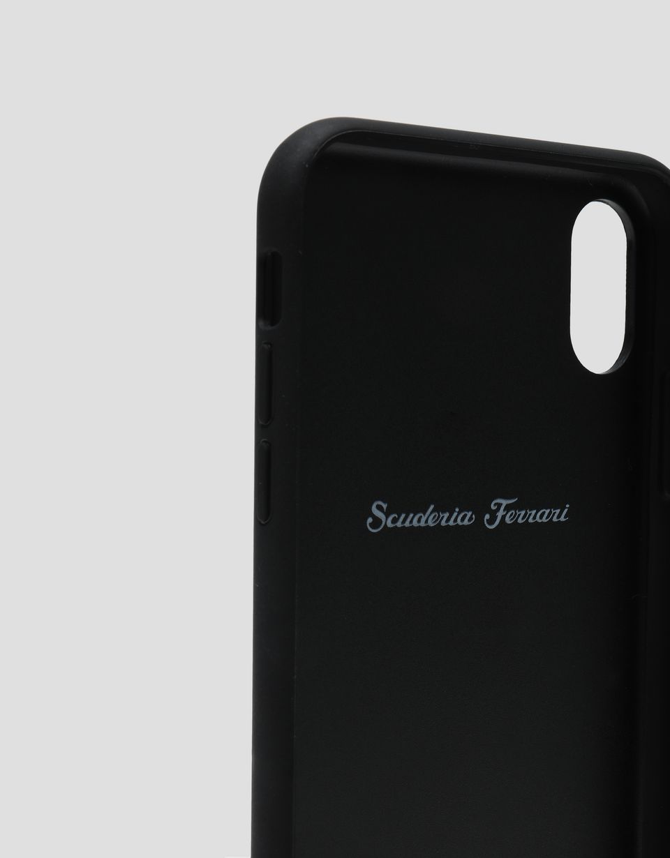 Scuderia Ferrari Online Store - Black leather hard case for iPhone XS Max - Smartphone Accessories