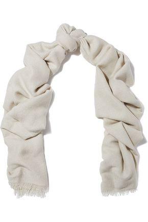 BRUNELLO CUCINELLI Sequin-embellished cashmere and silk-blend scarf