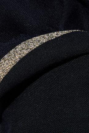 MAJE Eloha metallic-trimmed modal-blend gauze wrap