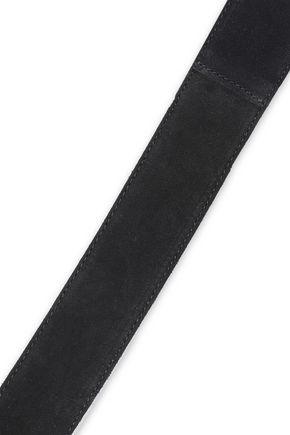 MAJE Aysel eyelet-embellished suede waist belt