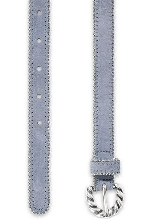 SANDRO Jane bead-embellished suede belt
