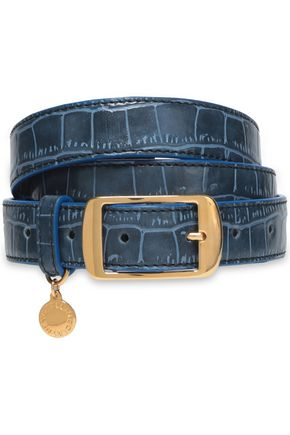 STELLA McCARTNEY Croc-effect faux leather belt