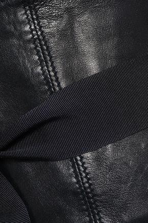 BRUNELLO CUCINELLI Grosgrain-trimmed leather belt