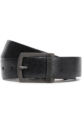 BRUNELLO CUCINELLI Bead-embellished leather belt
