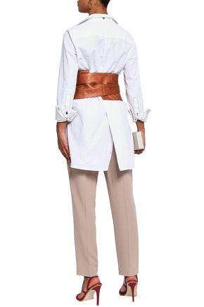 BRUNELLO CUCINELLI Metallic pebbled-leather belt