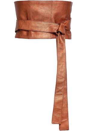 BRUNELLO CUCINELLI Metallic pebbled-leather belt