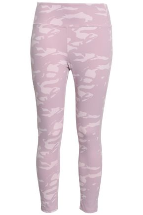 MONROW Cropped printed stretch leggings