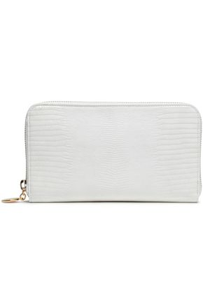 STELLA McCARTNEY Lizard-effect faux leather wallet