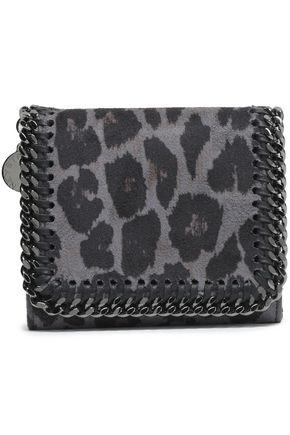 STELLA McCARTNEY Falabella leopard-print faux suede wallet