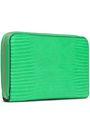 STELLA McCARTNEY Lizard-effect faux leather wallet