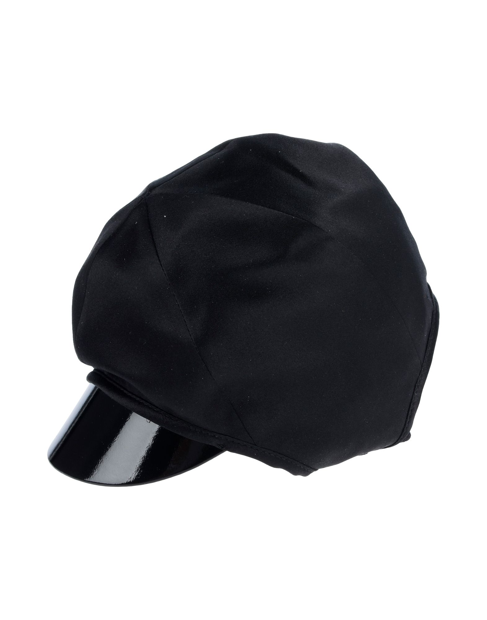 GUCCI Hats. satin, no appliqués, basic solid color. 100% Silk, Polyester, Elastane