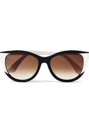 THIERRY LASRY Flattery cat-eye two-tone acetate sunglasses