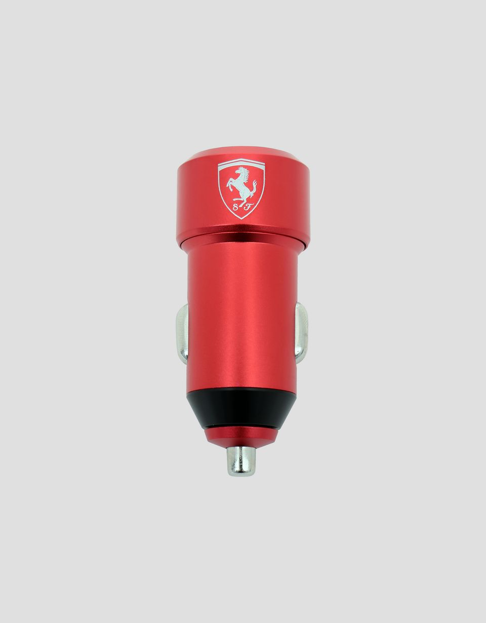 Scuderia Ferrari Online Store - Red car charger with two USB ports - Other Tech