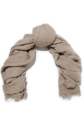 RICK OWENS Wool-blend bouclé scarf