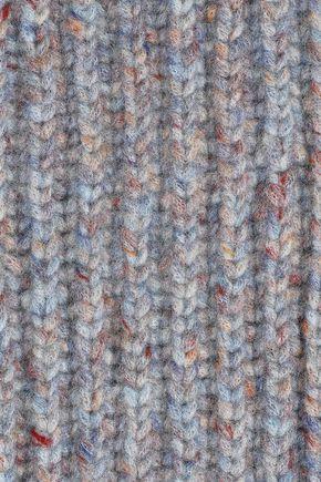 RAG & BONE Devin fringed marled ribbed wool-blend scarf