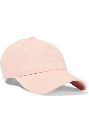 RAG & BONE Marilyn leather-trimmed cotton-twill baseball cap