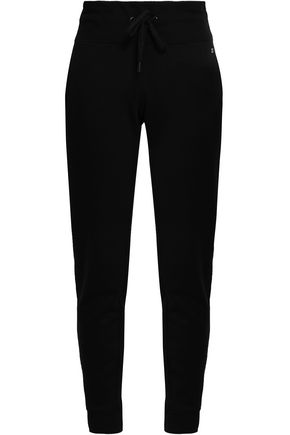 DKNY Cotton-blend French terry track pants