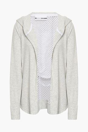 DKNY メッシュパネル ジャージー フード付きジャケット