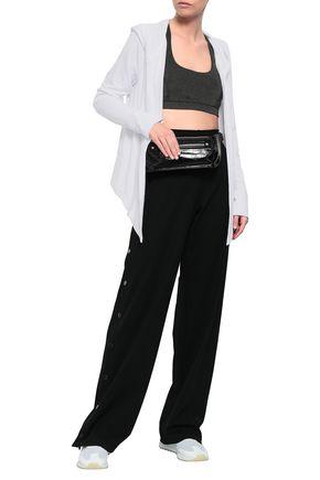 DKNY Mesh-paneled jersey hooded jacket