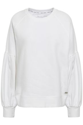 DKNY French cotton-terry sweatshirt