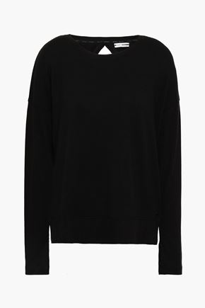 DKNY Cutout French terry sweatshirt