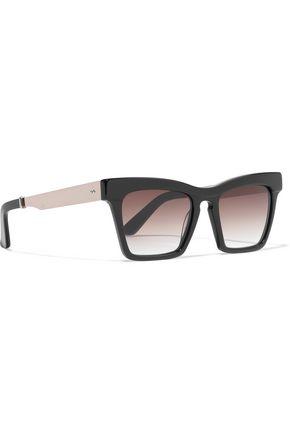 ELLERY Cremaster square-frame acetate and gold-tone sunglasses