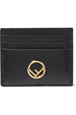 FENDI Embellished leather cardholder