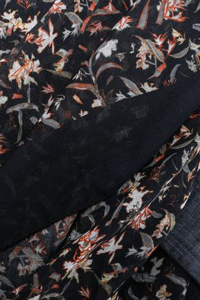 IRO Floral-print cashmere scarf