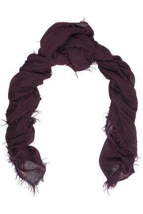 IRO Tebien frayed gauze scarf