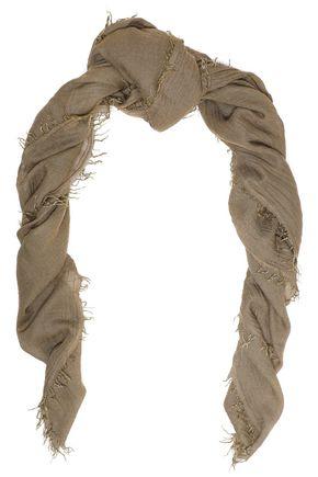 IRO Frayed gauze scarf