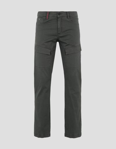 Scuderia Ferrari Online Store - Men's chinos with seven pockets - Chinos