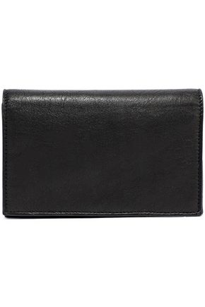 RICK OWENS Chain-embellished textured-leather wallet