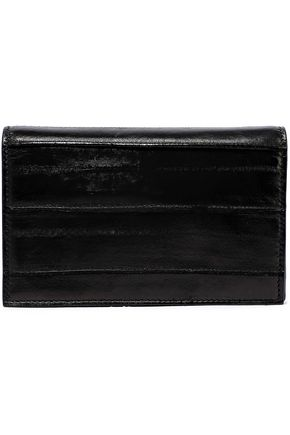 RICK OWENS Distressed glossed-leather shoulder bag